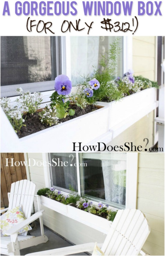 15 beautiful diy window planter box ideas for this spring. Black Bedroom Furniture Sets. Home Design Ideas