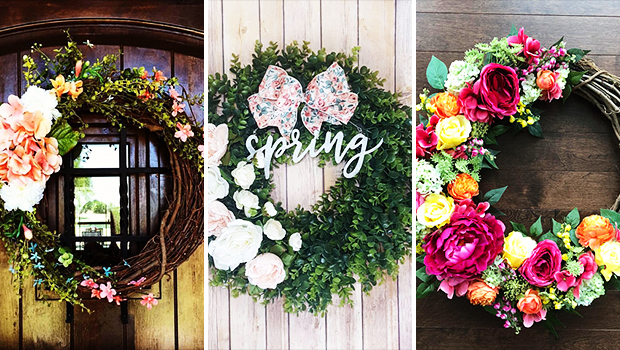 15 Refreshing Handmade Spring Wreath Designs Made Out Of