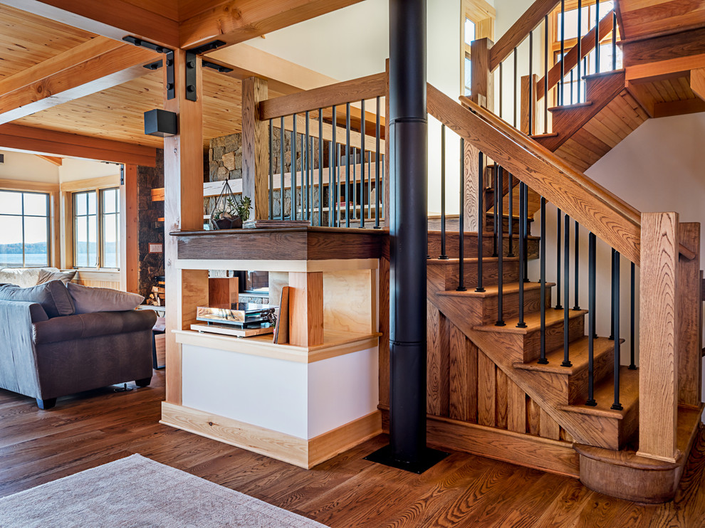20 Graceful Rustic Staircase Designs Youre Going To Love
