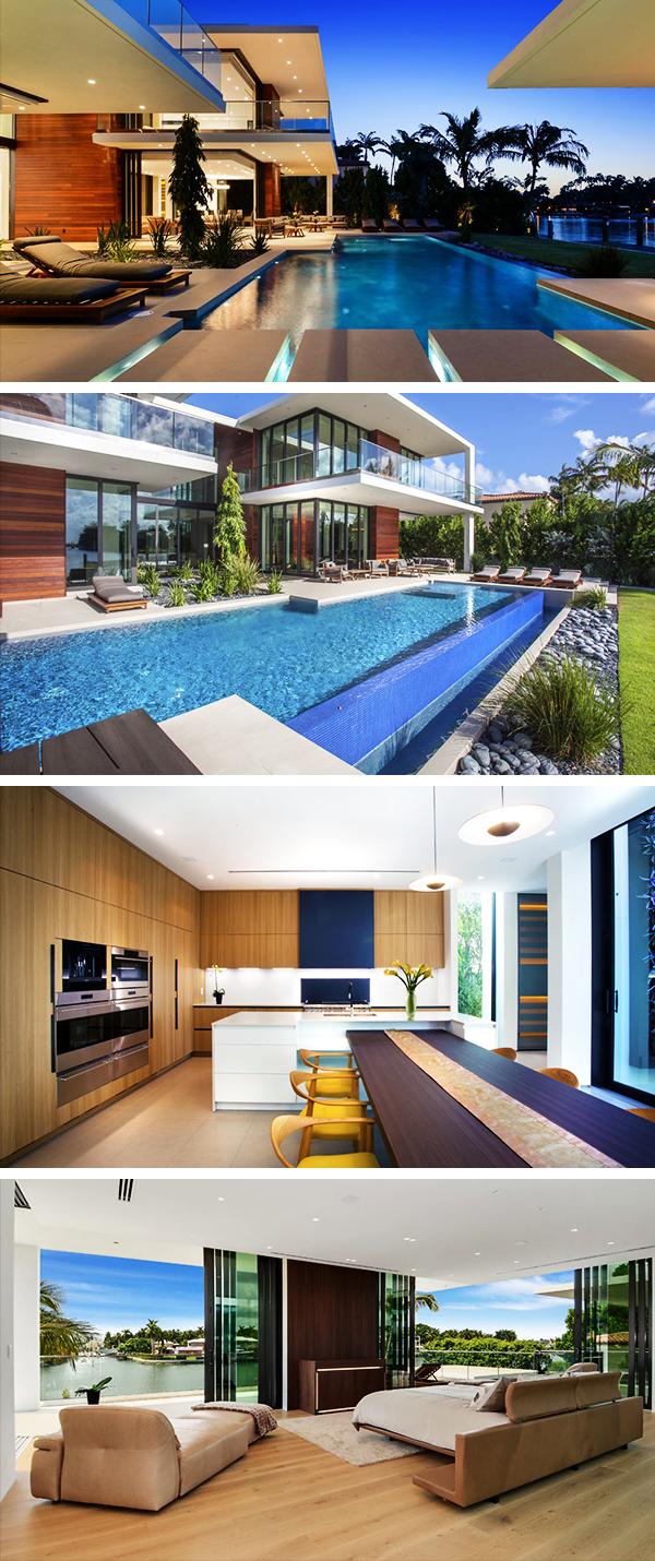 Allison Island Residence by Choeff Levy Fischman in Miami Beach, Florida