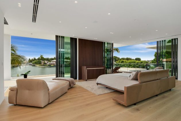 Allison Island Residence by Choeff Levy Fischman in Miami Beach, Florida