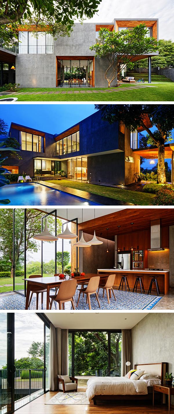 Inside Outside House by Tamara Wibowo Architects in Semarang, Indonesia