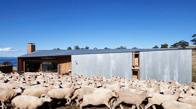 Shearers Quarters House by John Wardle Architects in Hobart, Australia