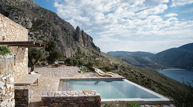 Tainaron Blue Retreat by Kostas Zouvelos and Kassiani Theodorakakou in Greece