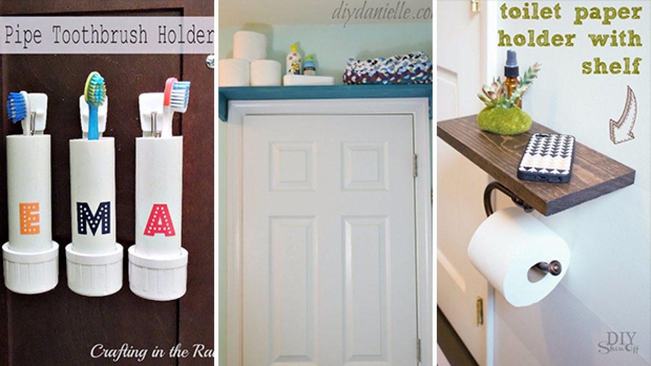 15 Simple Yet Effective Diy Bathroom Storage And