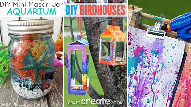 16 Fun And Colorful DIY Ideas That Your Kids Can Easily Craft This Summer