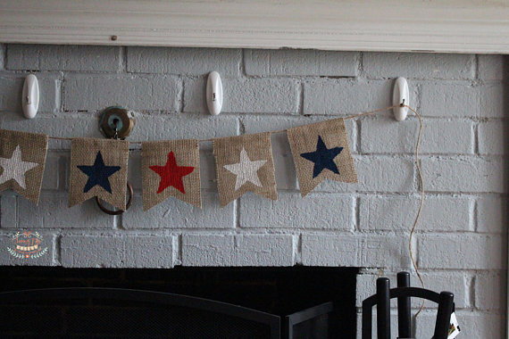 16 Red, White and Blue Handmade 4th of July Banner Ideas