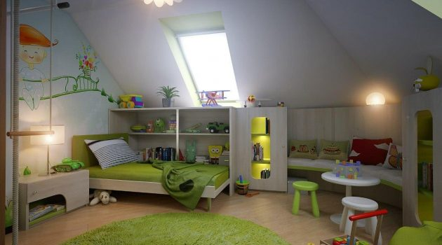 5 Simple Steps For Decorating Functional Attic Child's Room