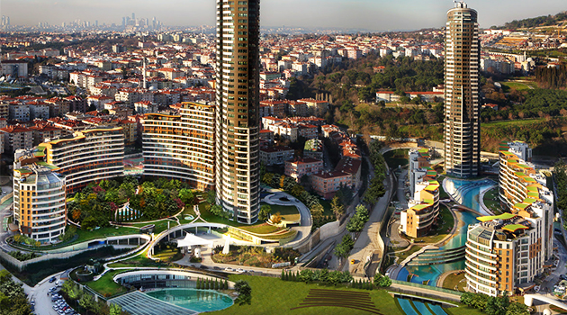 A Green Life Complex By Evrenol Architects:  Akasya Acıbadem