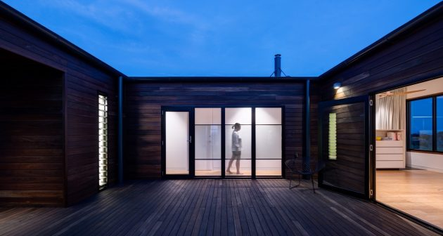 French Island Pre-Fab by Lai Cheong Brown in Victoria, Australia