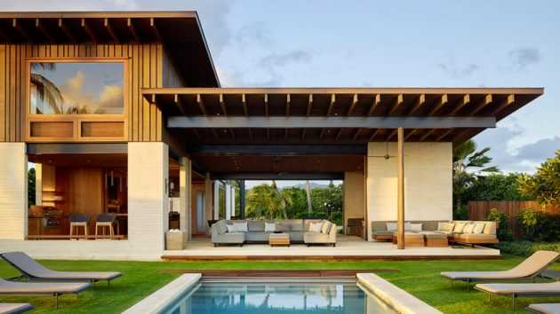Hale Nukumoi Beach House by Walker Warner Architects in Hawaii