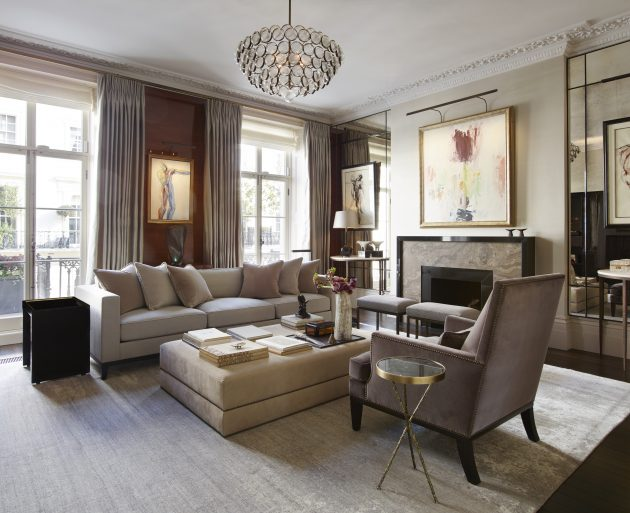 London Townhouse by Janine Stone & Co. in Belgravia, London