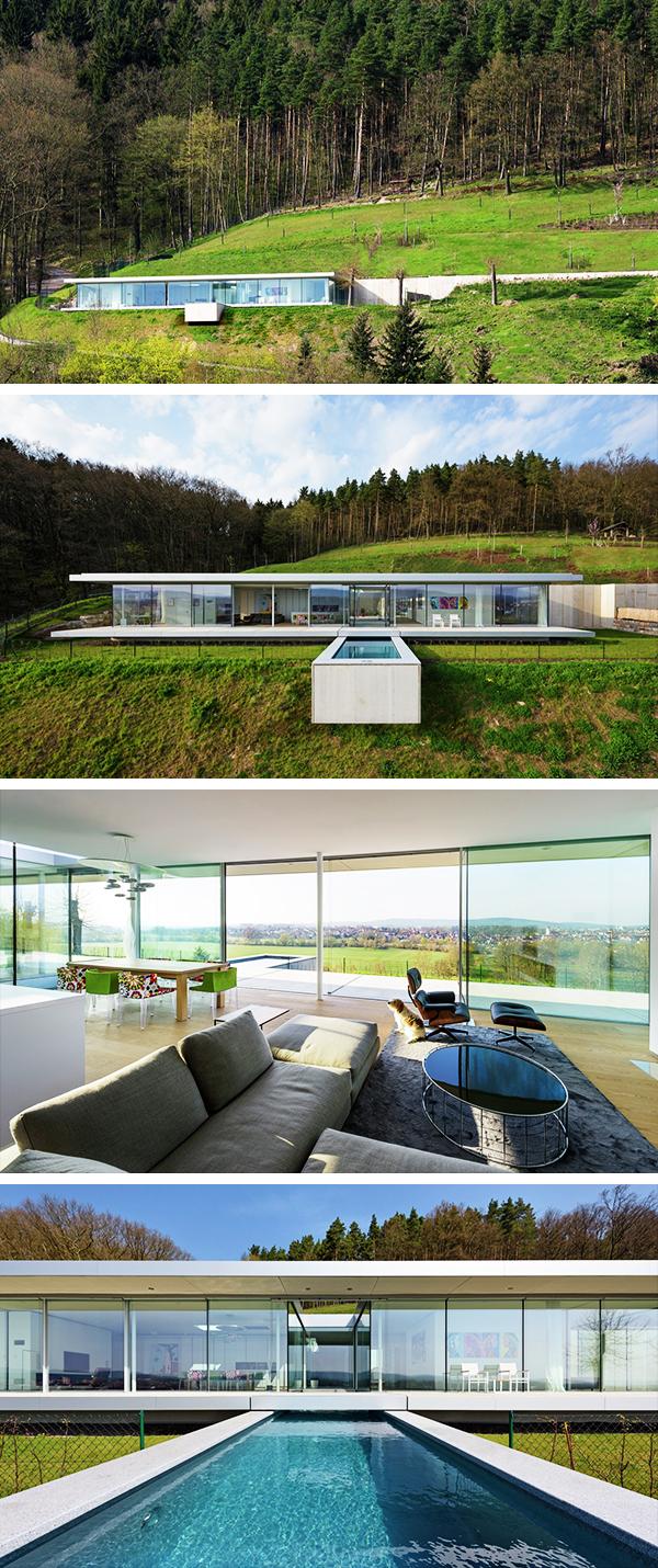 Villa K by Paul de Ruiter Architects in Thüringen, Germany