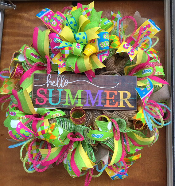 15 Refreshing Handmade Summer Wreath Designs You Need