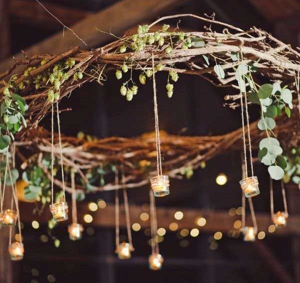 59 Incredibly Simple Rustic Décor Ideas That Can Make Your: 15 Really Fascinating DIY Tree Branch Chandeliers