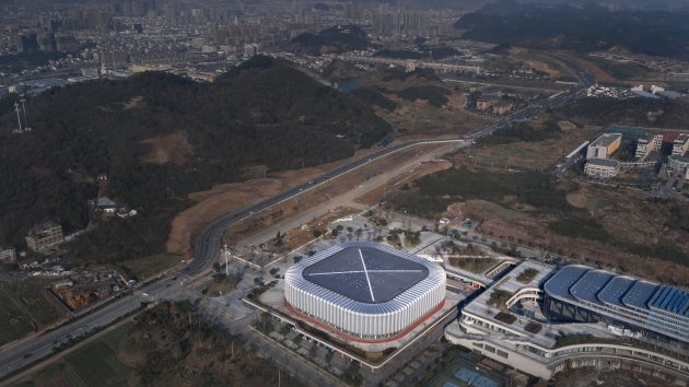 Landscape temperament   Balance and integration: Linan Sports and Culture Center