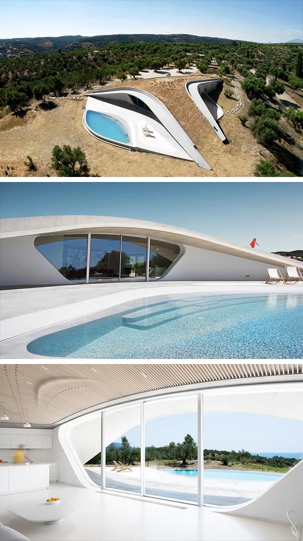 Villa Ypsilon by LASSA Architects in Finikounda, Greece