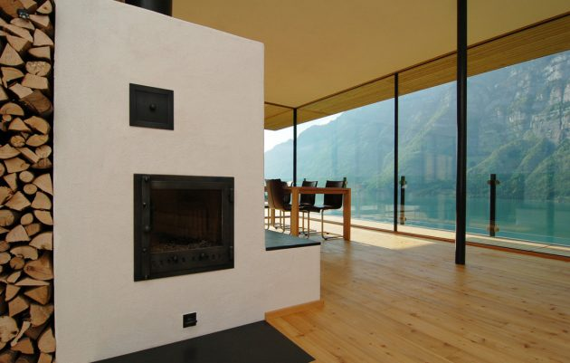 Walensee House by k m Architektur on Lake Walensee in Switzerland