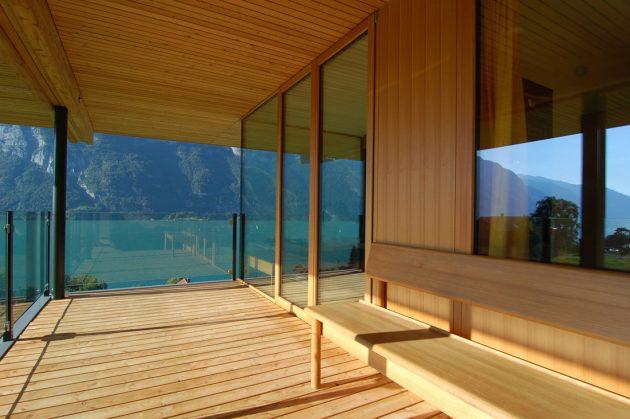 Walensee House by k_m Architektur on Lake Walensee in Switzerland