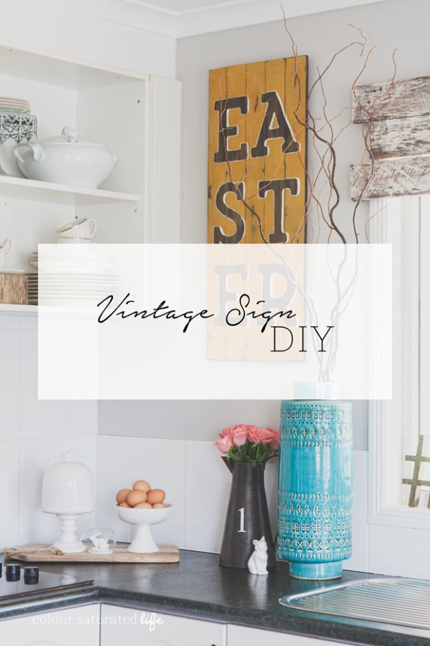 15 Adorable DIY Vintage Sign Ideas You Can Decorate Your ...