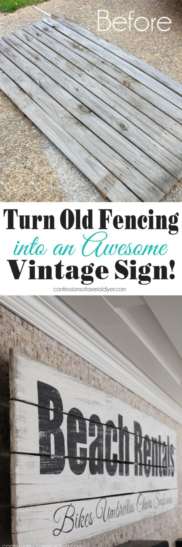 15 Adorable DIY Vintage Sign Ideas You Can Decorate Your Home With