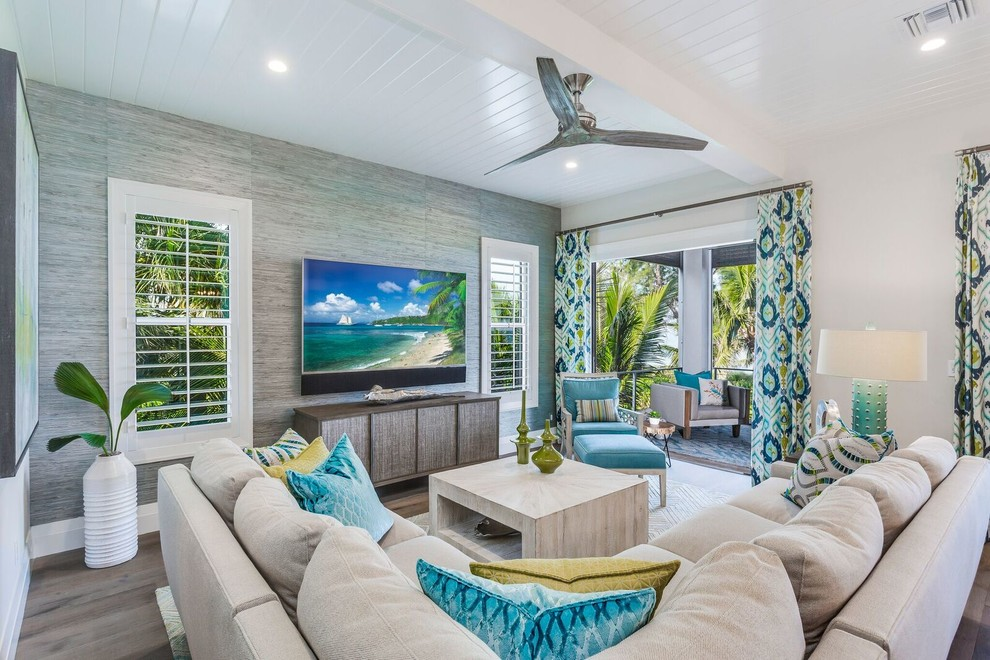terrific tropical living room | 16 Picturesque Tropical Living Room Interiors That Will ...
