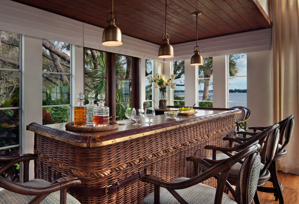 15 Awesome Tropical Home Bar Designs Every Getaway Needs