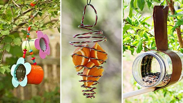 15 Fantastic DIY Bird Feeder Ideas That Will Bring Life To Your Garden