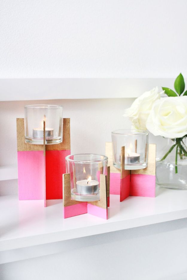 15 Lovely DIY Candle Holder Projects Youre Going To Craft Right Away