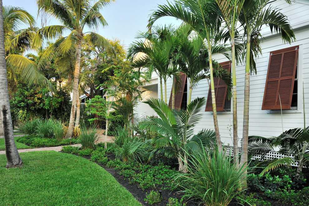 15 Stunning Tropical Landscape Designs That Know How To ... on Tropical Backyard  id=77495