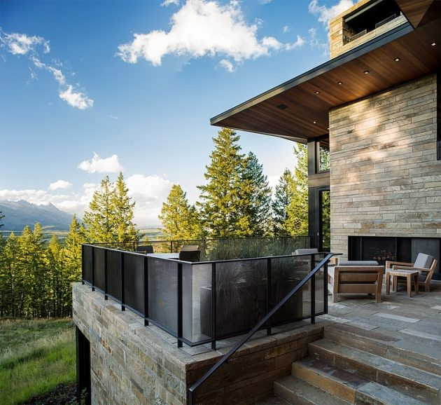 Butte Residence by Carney Logan Burke Architects in Jackson, Wyoming