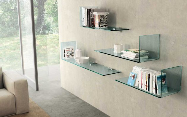 How To Expand And Emphasize A Space With Glass Shelves?