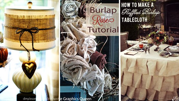 15 Simple And Easy DIY Burlap Crafts To Add To Your Home Decor