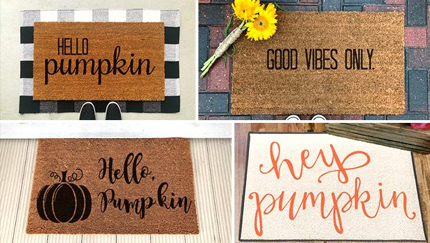 16 Adorable Handmade Fall Doormat Ideas For The Rainy Season