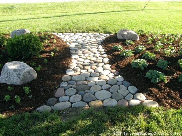 15 Creative Diy Stone Path Designs That