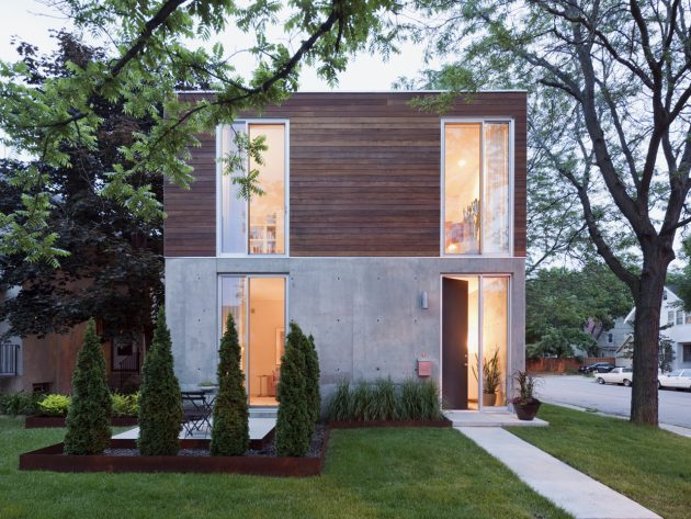 B+W House by Julie Snow Architects in Minneapolis, Minnesota