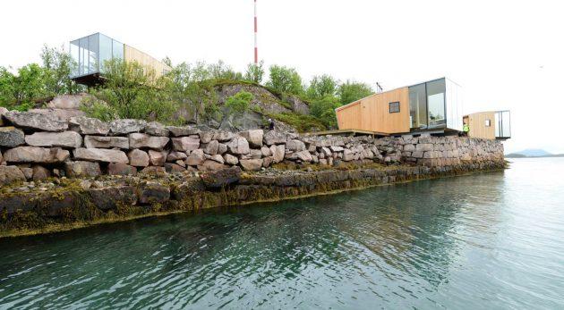 Manshausen Island Resort by Snore Stinessen Arkitektur in Steigen, Norway