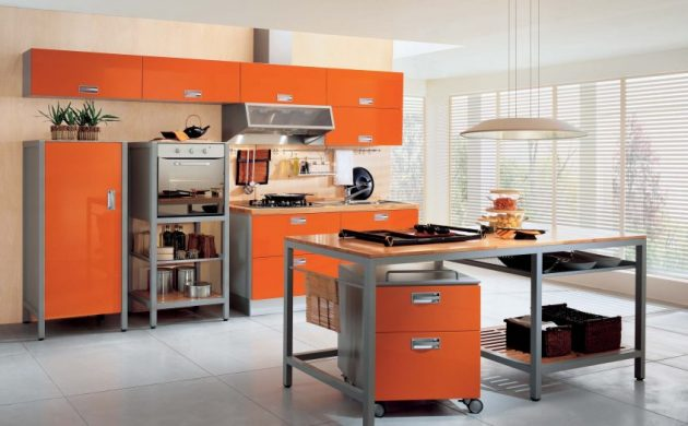 Warmth In The Kitchen-15 Magnificent Orange Kitchens That You Must See