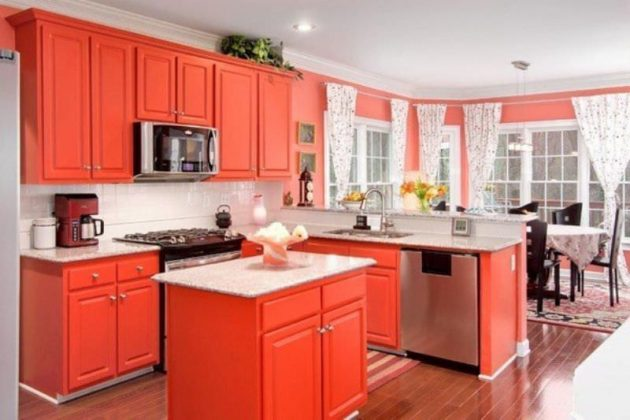 Warmth In The Kitchen 15 Magnificent Orange Kitchens That You Must See