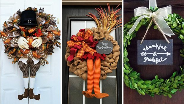 15 Inviting Handmade Thanksgiving Wreath Designs For November