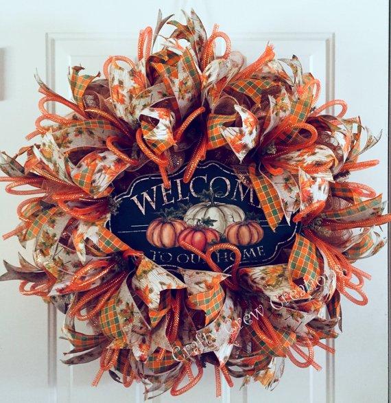15 Inviting Handmade Thanksgiving Wreath Designs For November