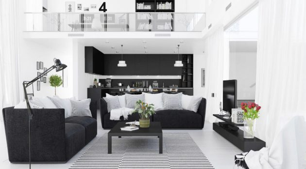 19 Timeless Black & White Living Spaces That Will Thrill You