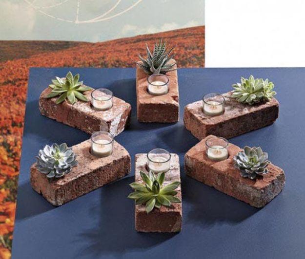 15 Simple DIY Crafts That You Can Make Using Bricks