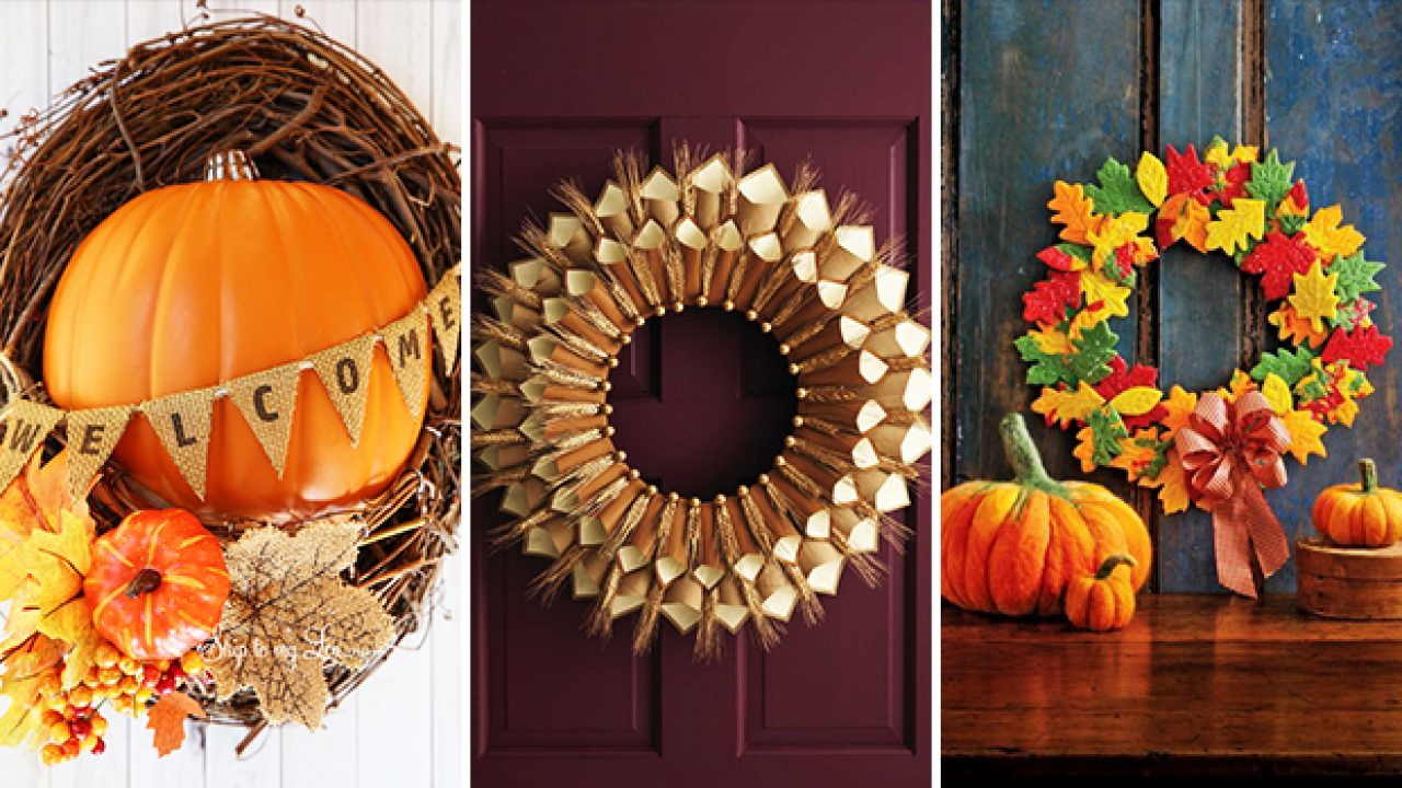 20 Absolutely Adorable Diy Thanksgiving Wreath Ideas You Ll Craft Right Away