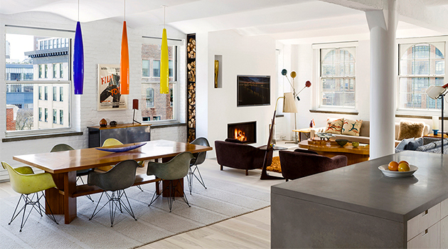 Industrial Loft in Manhattan's Tribecca Becomes a Cozy Home