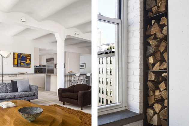Industrial Loft in Manhattans Tribecca Becomes a Cozy Home