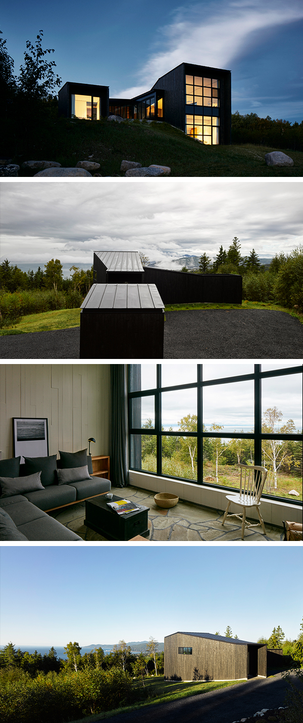 La Charbonniere by Alain Carle Architecte in Charlevoix, Quebec