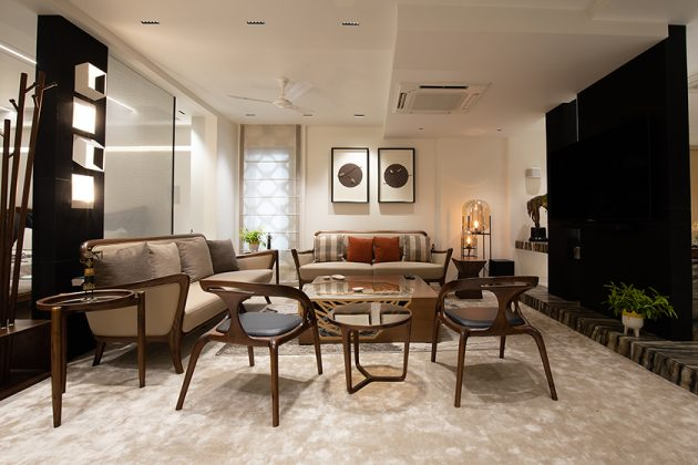 Penthouse Pafekuto by Conarch Architects in Uttar Pradesh, India
