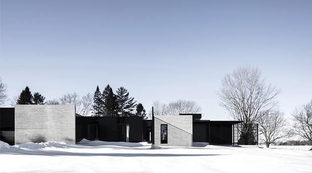 True North Residence by Alain Carle Architecte in Cornwall, Canada