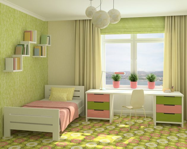 15 Proofs That Green Is Always Great Choice For The Kids Room